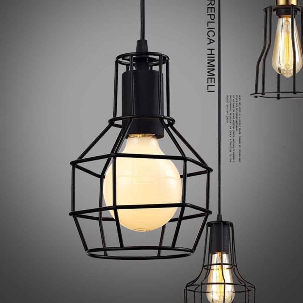 ФОТО American Simple Modern Restaurant Office Furnishings Industrial Iron Wine Retro Bird Cage Pendant Light Decoration