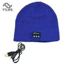 TTLIFE brand Warm Bluetooth Hat Cap Mini Wireless Speaker Bluetooth Receiver Audio Music Bluetooth Headset Headphone For iphone