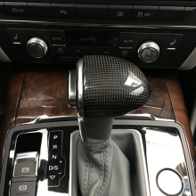 Free Shipping Carbon Fiber Gear head Cover Gear lever Cover gear shift knob Cover For Audi A6 A6L A4 A4L A5 A7 Q5 Q7 S6 S7 цены