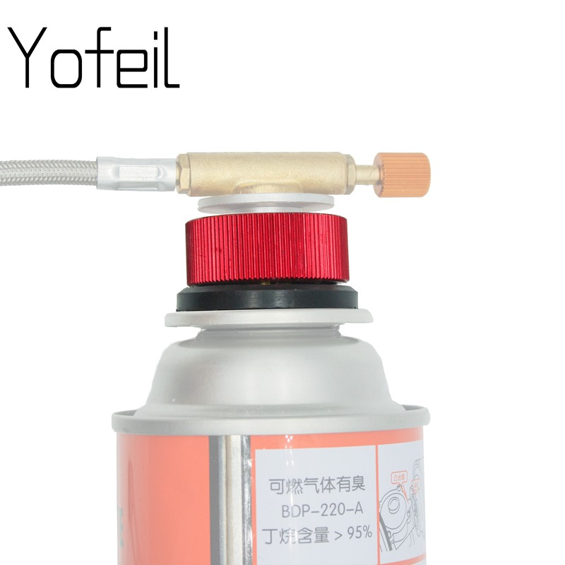 Yofeil Outdoor Camping Hiking Stove Adaptor Conversion Split Type Gas Furnace Connector Cartridge Tank Adapter