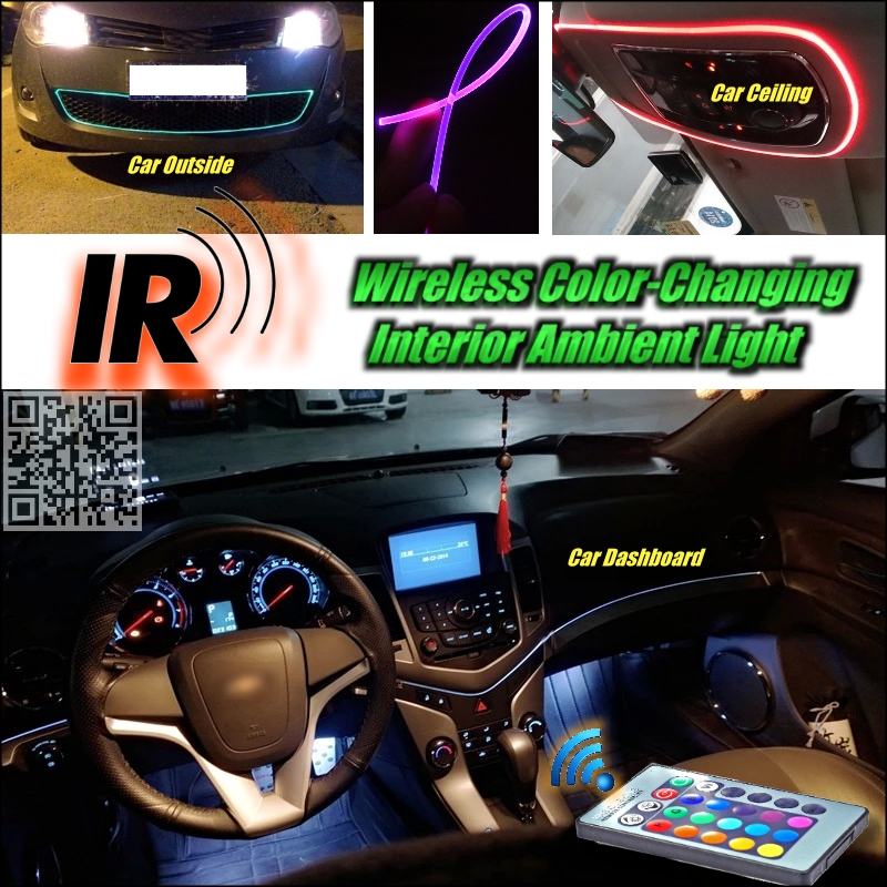 wireless ir control car interior ambient 16 color changing light instrument dashboard light for. Black Bedroom Furniture Sets. Home Design Ideas