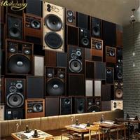 Beibehang Custom Photo Wallpaper Stereo Surfaces Mural European Style Retro KTV Audio Speakers TV Background Papel