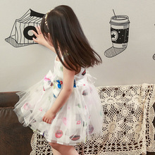 Girls Dress 2016 New Summer Lovely Kids Dresses For Girls Sleeveless Cute Girls Ball Gowm Princess Dress Children Clothing