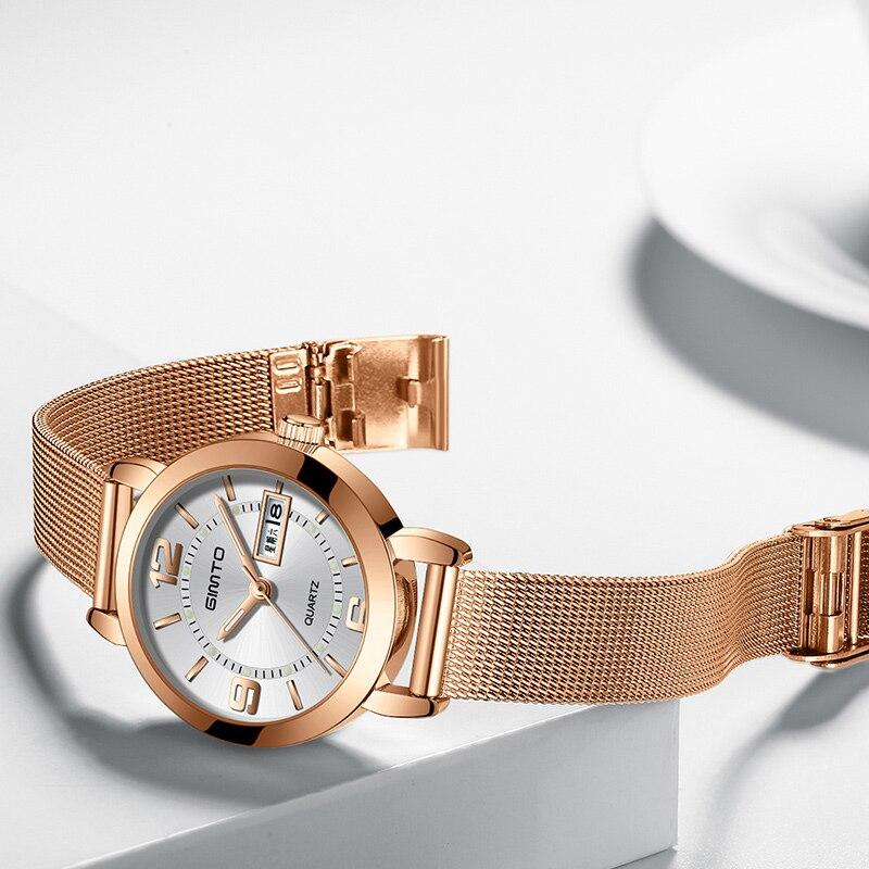 GIMTO Mini Dress Women Watches Silver Brand Quartz Ladies Watch Fashion Girl Bracelet Wristwatch Relogio Feminino Montre Femme 2