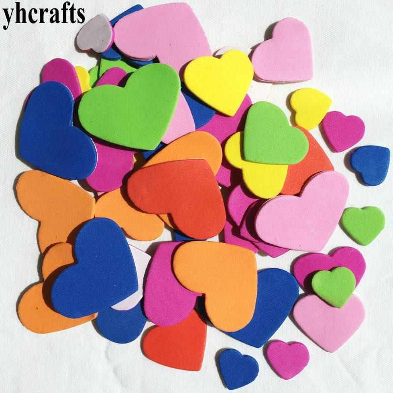 100PCS/LOT.Mix hearts foam stickers Kids toy Scrapbooking kit.Early educational DIY.kindergarten arts and craft.OEM Wholesale.