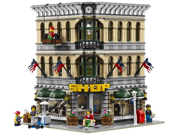 Фотография 15005 2182pcs City Street Grand Emporium Model Building Kits action Brick Toys Gift For Children 10211