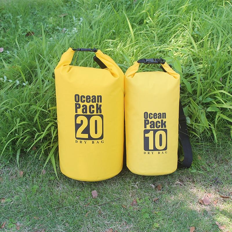 PVC 5L 10L 20L Outdoor Diving Compression Storage Waterproof Bag Dry Bag For Man Women Swimming Rafting Kayak 1