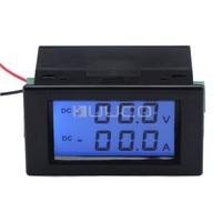 Digital Voltios Amperios Tester DC 0 ~ 200 V/50A Lcd Display Tensión Medidor de Corriente 2in1 Del Amperímetro Del Voltímetro