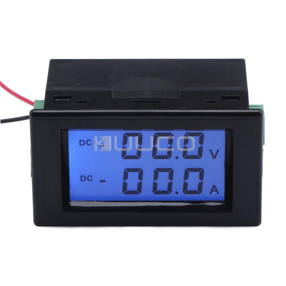 Numérique Volt Amp Testeur DC 0 ~ 200 v/50A Lcd Affichage Tension Current Meter 2in1 Voltmètre Ampèremètre
