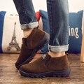 Zapatos de tela hombres zapatos botas de algodón de invierno de alta ayuda añadir los hombres calientes del invierno zapatos antideslizantes engrosamiento de mediana edad y viejo papá