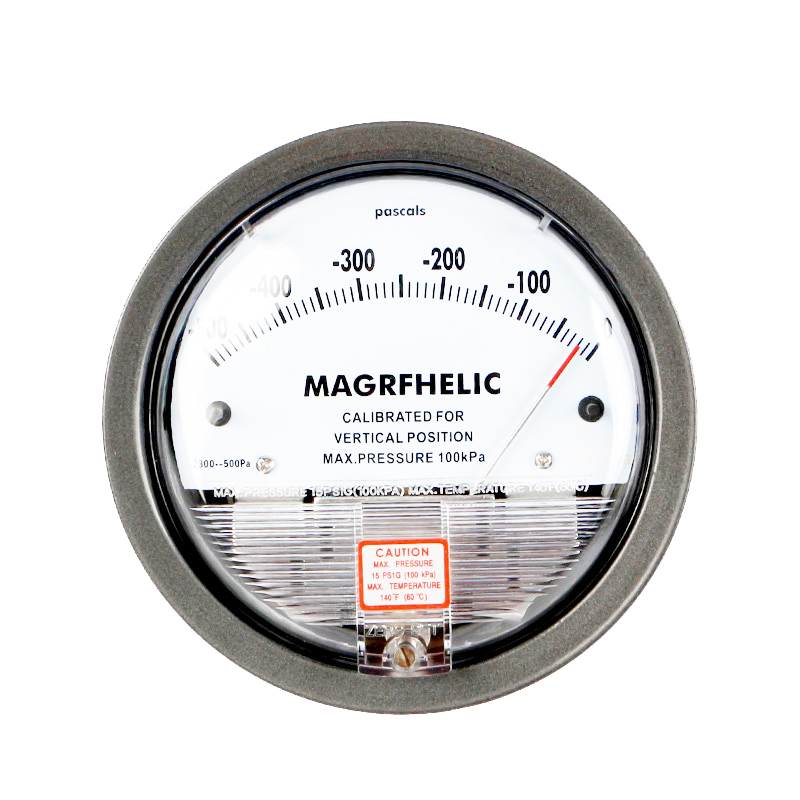 -500PA-0 Micro Differential Pressure Gauge High Precision 1/8