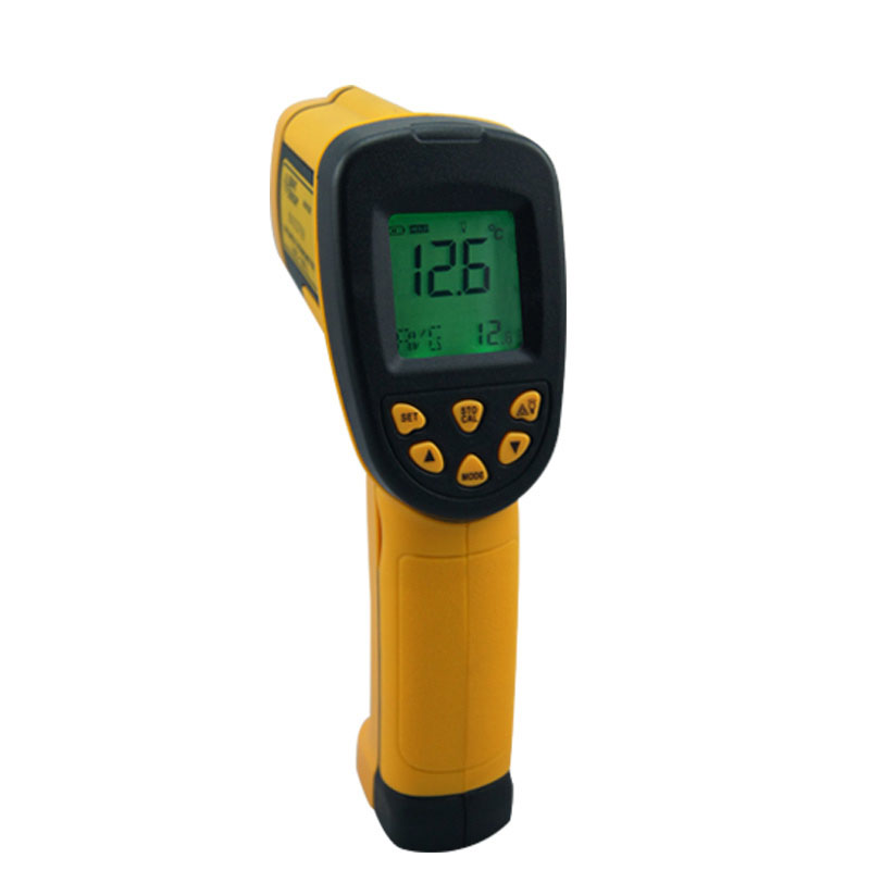 ФОТО AS852B Digital Non-Contact -50~700 degree LCD Back IR Laser Infrared Thermometer Themperature Measurement Electronic Point Gun