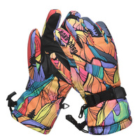 Couple Antiskid Wear Resistant Riding Ski Gloves Mountain Skiing Snowmobile Waterproof Snow Motorcycle Gloves Windproof 2017