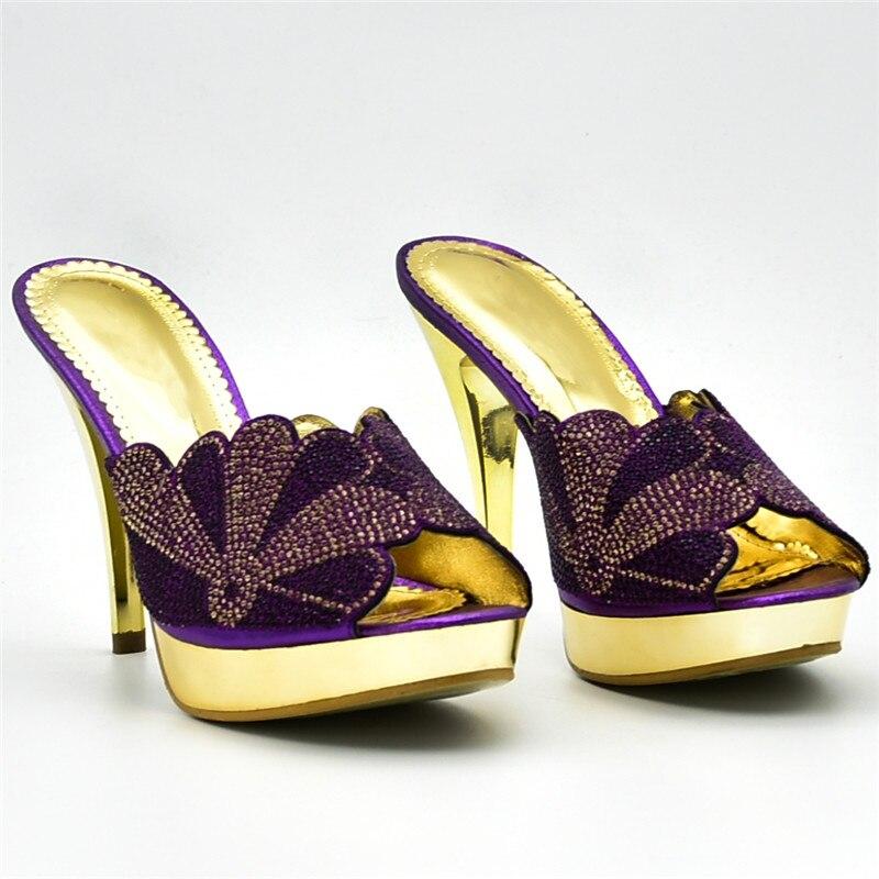 A Y Purple Decorado 2018 black Mujeres Bolsas Bolsos Italianos Zapatos oro Llegada Verano Con Nigeriano Juego wine green Nueva Rhinestone ZwXAq1
