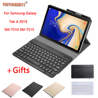 Original Wireless Bluetooth Keyboard Case for Samsung Galaxy Tab A 2019 SM T510 SM T515 T510 T515 Portable Tablet Cover Case