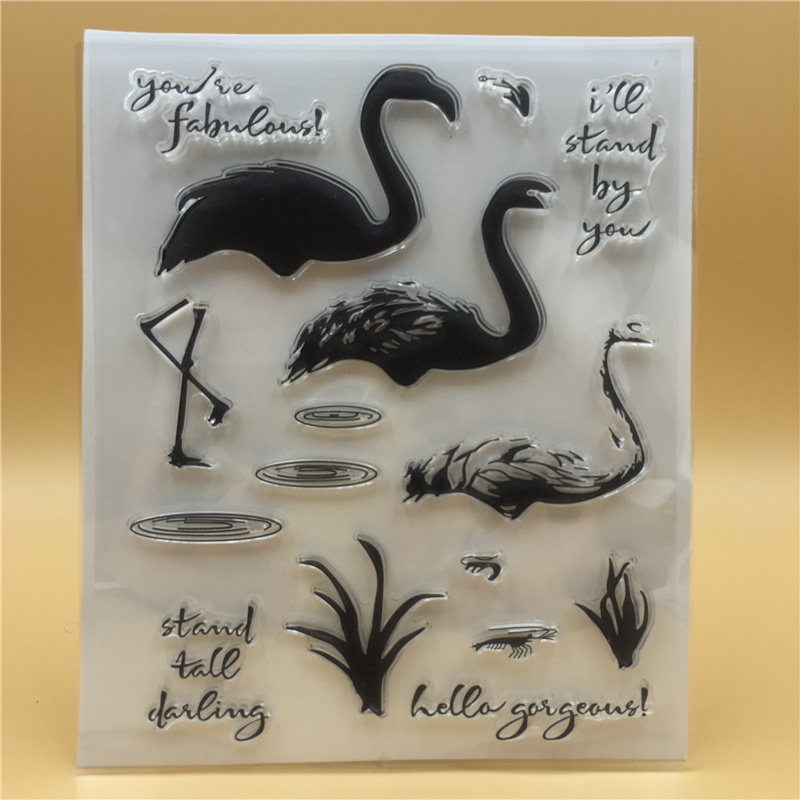 Bird Transparent Clear Stamp DIY Silicone Seals Scrapbooking/Card Making/Photo Album Decoration Accessories loving heart and ballon transparent clear stamp diy silicone seals scrapbooking card making photo album craft cl 285
