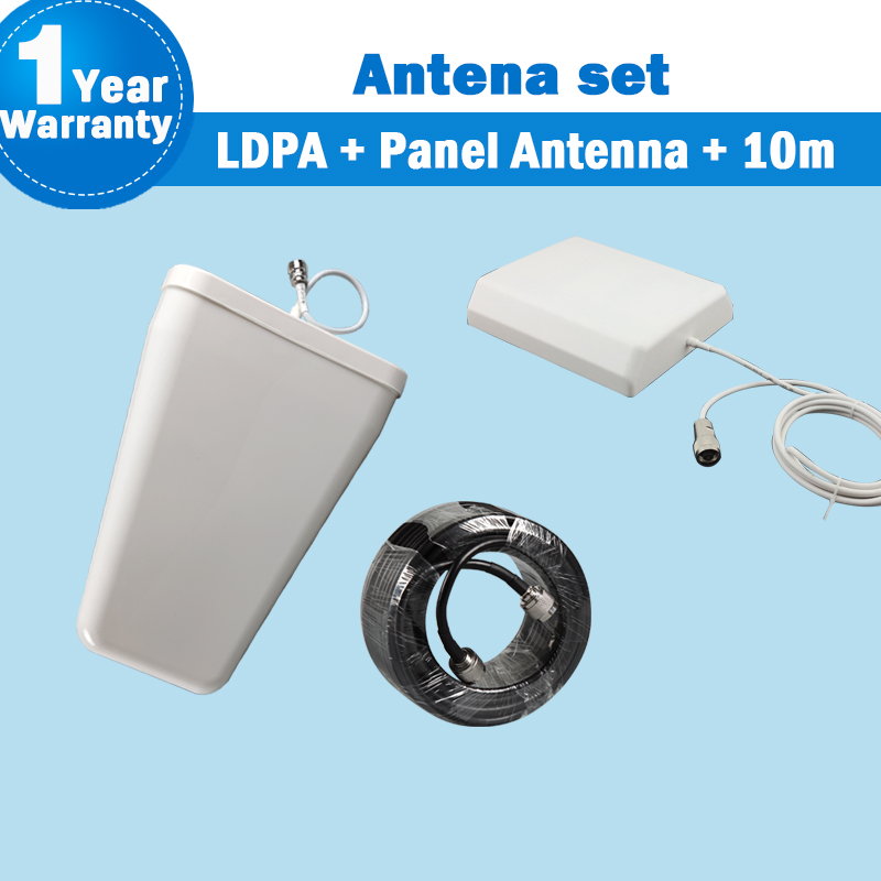 Outdoor Antenna & Indoor Antenna With 10m Cable Full Kit Antenna Parts 2g 3g 4g 700-2700mhz For Mobile Phone Signal Repeater S19