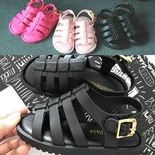 BBK Haute qualité Mini Melissa Filles sandales Romaines 2017 enfants sandales chaussures De Gelée PVC souple semelle filles chaussures taille 12.8-17.8 cm D *