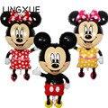 ¡ Nuevo! 112*64 cm Rojo bowknot de Mickey Minnie Mouse foil Globos Juguetes Clásicos para niños de Cumpleaños Fiesta globos de aire inflables