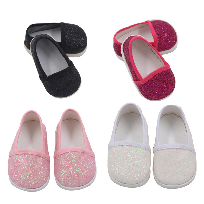"""14.5/"""" Doll Pink Glitter Heels fits 14.5/"""" Doll Pink High Heel Shoes"""