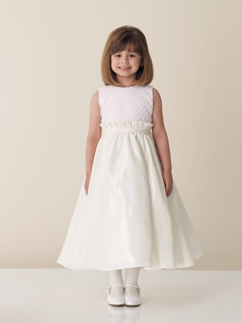 2010 new style beauty ivory taffeta organza flower girl dress ,girl dresses  BZ0820008