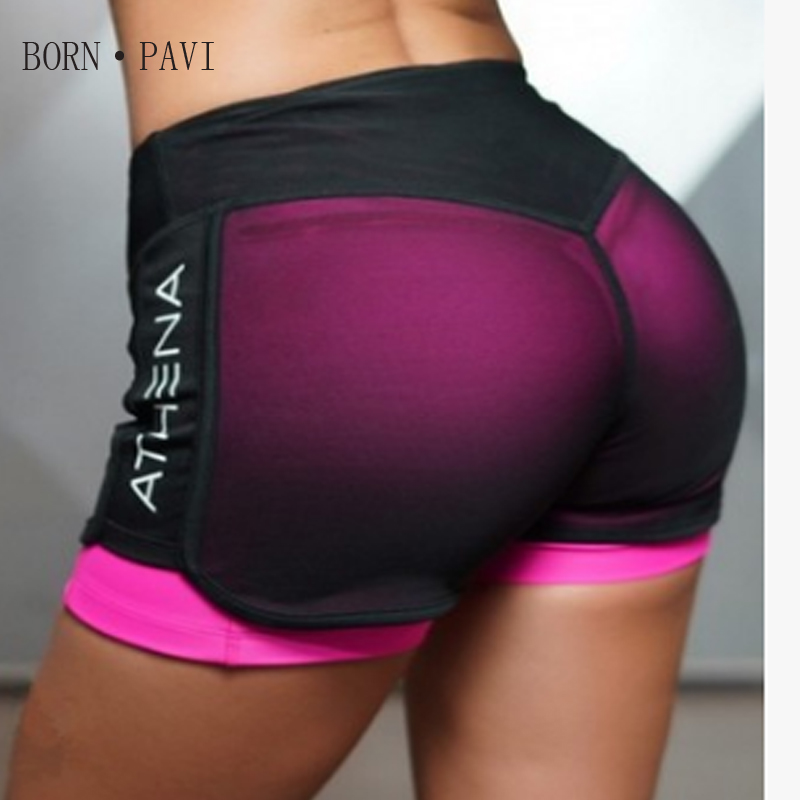 BORNPAVI   Shorts   For Women Sexy Las Mujeres   Shorts   For Women Workout Fashion Casual Active   Short   Fake Two Breathable New   Shorts