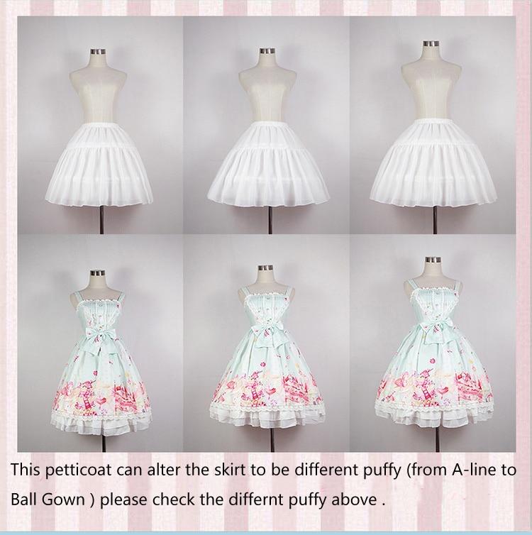 Image 2 - Lolita Chiffon Cosplay Petticoat Underskirt Short Women Black Petticoat Wedding Accessories 2018Petticoats   -
