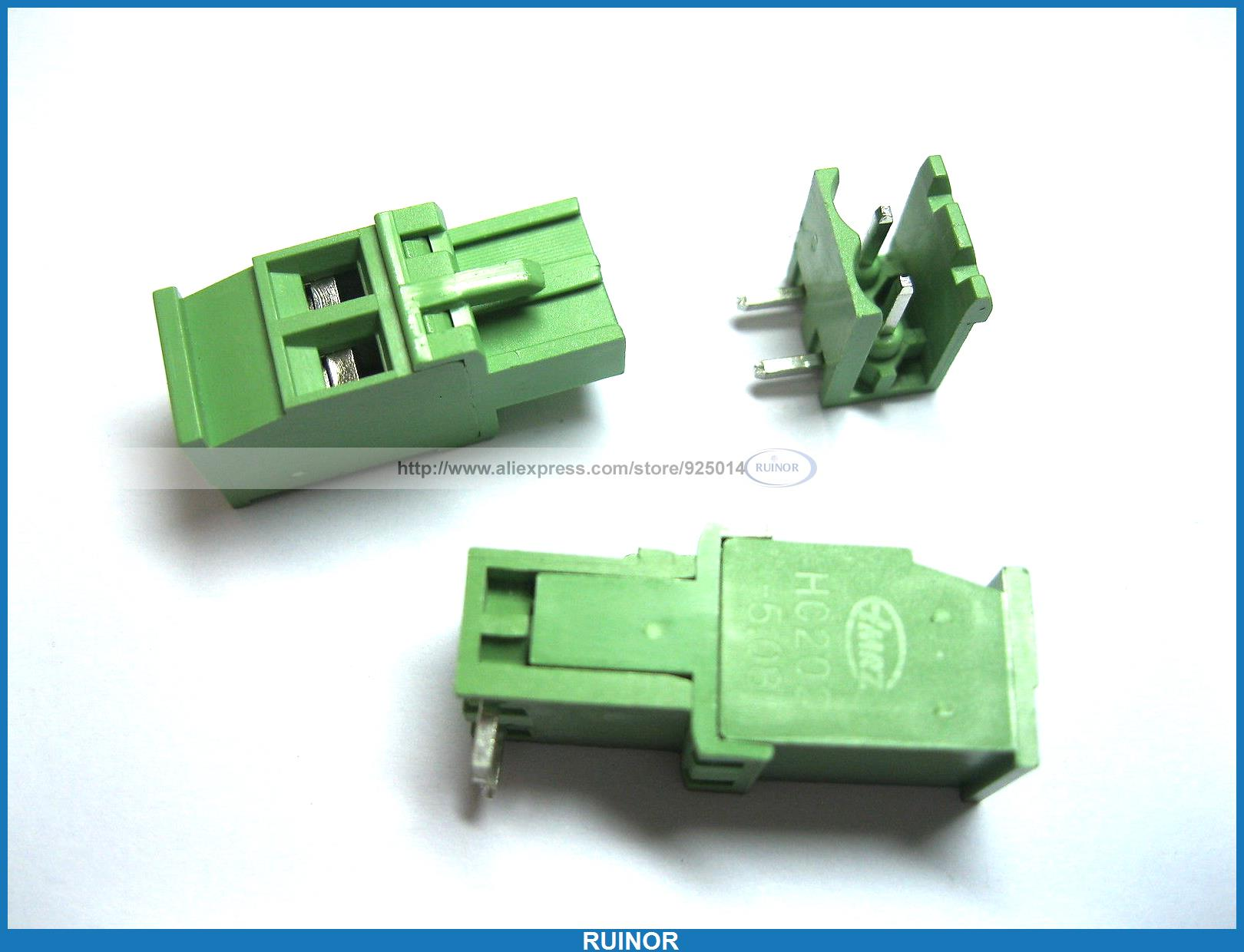 36 Pcs 5 08A 5 08mm Angle 2 Pin Screw Terminal Block Connector Pluggable Type 100 pcs green 6 pin 5 08mm screw terminal block connector pluggable type