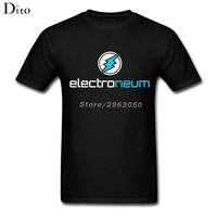 ETN Electroneum T Shirt Men Boy Plain White Short Sleeve Custom XXXL Men S Cryptocurrency Fan