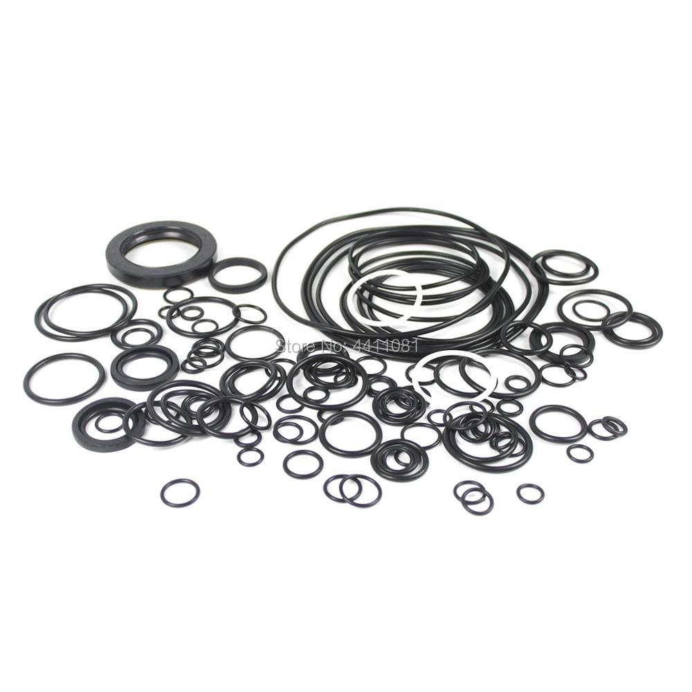 For Kobelco SK200-3 Main Pump Seal Repair Service Kit Excavator Oil Seals, 3 month warranty new rotation solenoid valve kwe5k 31 g24ya50 for excavator sk200 6e