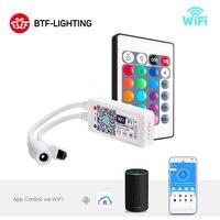DC5-28V Mini LED WiFi Licht 5050 RGB RGBW Streifen Bluetooth LED Controller Amazon Alexa Google Telefon Stimme IOS/Android APP Control