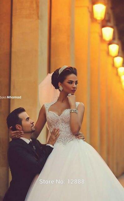 2017 vestido де noiva casamento принцесса Красивая Милая Аппликация Сказал Mhamad Свадебное Платья Свадебные Платья