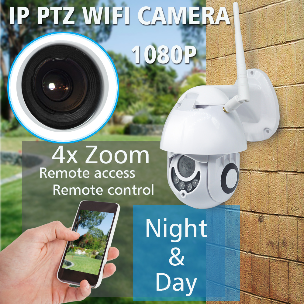 Image 2 - OUERTECH  4X Zoom PTZ Outdoor IP security Camera WiFi 1080P Motion Detect Night vision Security Camera TF Card Slot CCTV Camera-in Surveillance Cameras from Security & Protection