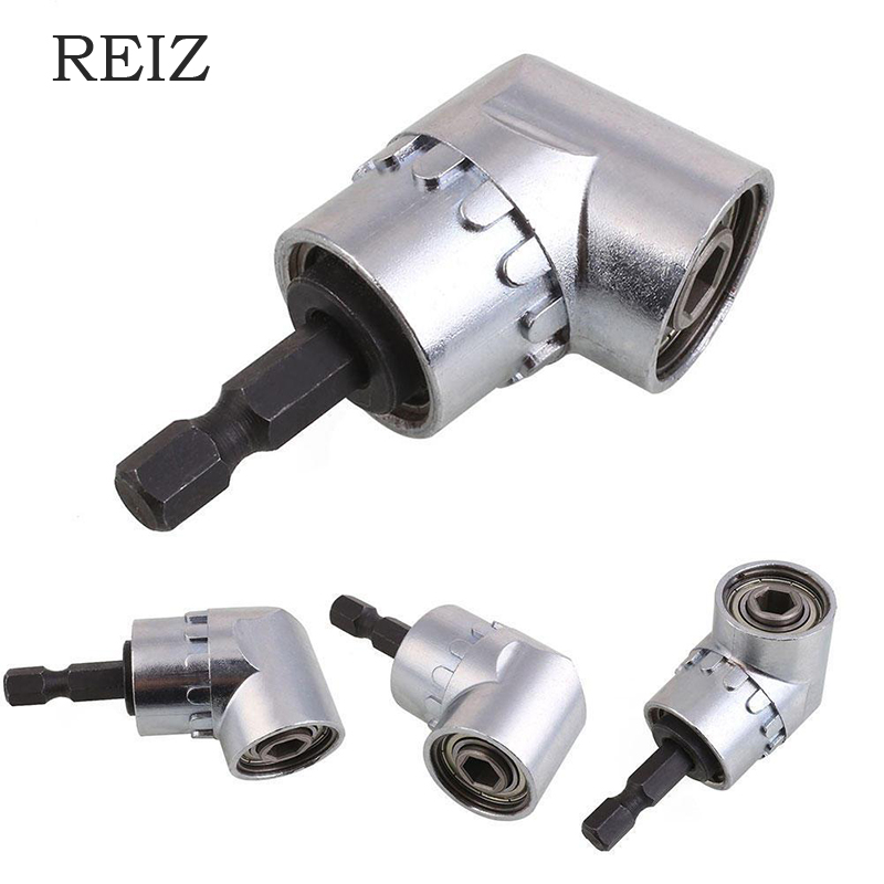 REIZ 105 Degree Angle Screwdriver Set Socket Holder Adapter Adjustable Bits Drill Bit Right Angle Nozzle For Screwdriver