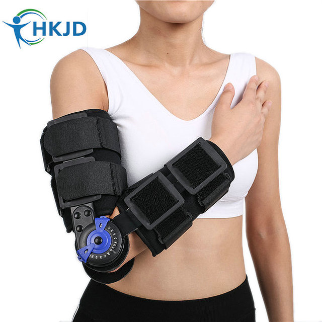 100% Nueva Ajustable Bisagras Codera Ortopédica Médica Ortesis Soportes de fractura de antebrazo, lesiones de tejidos blandos, CE FDA