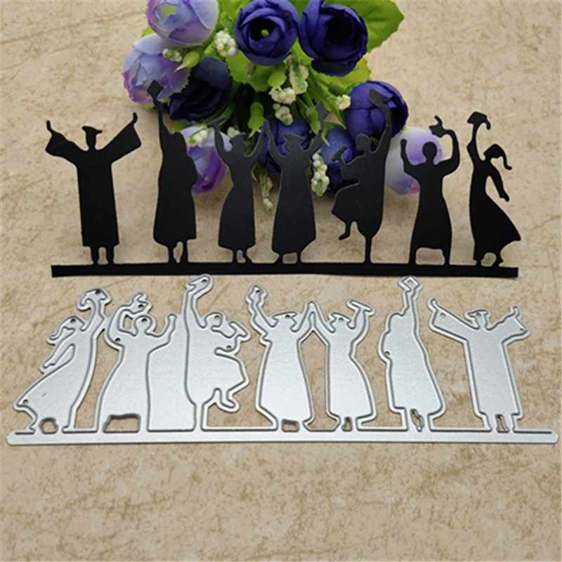 Happy Graduation Border Metal Cutting Dies for Scrapbooking Card Making Craft