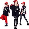 2016 women summer Hip hop punk HARAJUKU gd hip-hop dance back shapi dog print loose short-sleeve tops & teesT-shirt