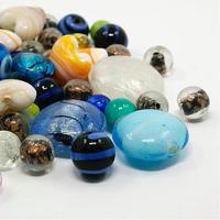 500 جرام مختلط اليدوية زجاج lampwork الخرز لصنع المجوهرات diy كرافت ، 11 ~ 25x11 29x11 ~ ~ 15 ملليمتر ، ثقب: 0.5 ~ 4 ملليمتر