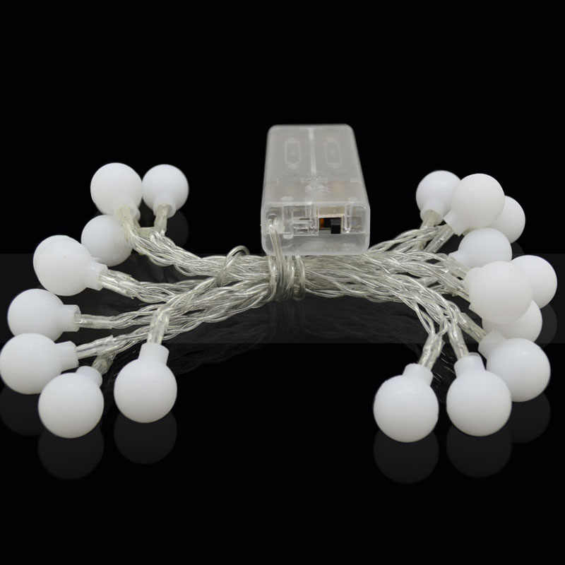 2 м 20 светодиодный s гирлянда со сказочными огнями светодиодный мяч строка освещение рождественнской елки лампы для свадебного украшения для дома крытый