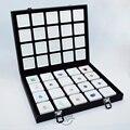 Portable Black PU Travel Gem Box Gemstone Storage Case Jewelry Tray Stone Holder Organizer WIth 40PCS 4x4cm Diamond Boxes