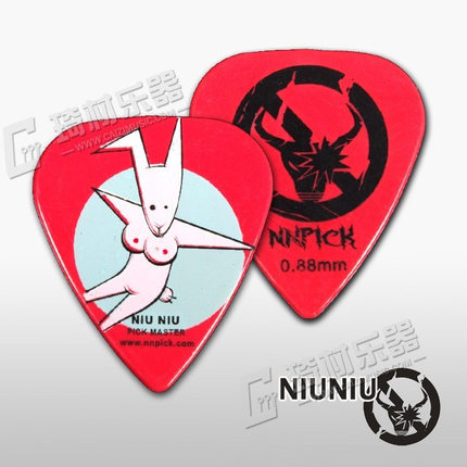 NNPICK by IM Cool Series Funny Bunny Guitar Pick Plectrum Mediator Gauge 1.20mm/0.88mm ...