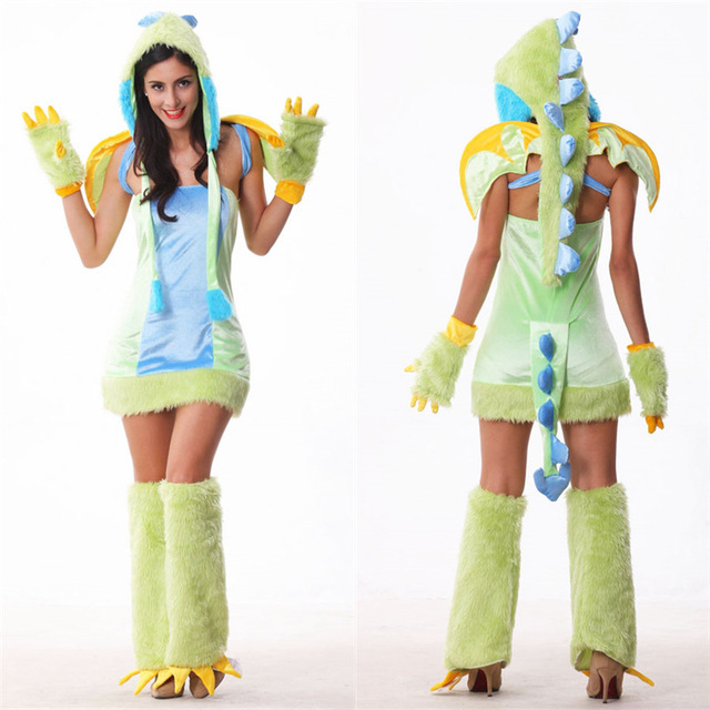 2018 New Arrive Halloween Costume Adult Sexy Dragon Costume Cute And Colorful Dragon Green Animal Cosplay  sc 1 st  AliExpress.com & 2018 New Arrive Halloween Costume Adult Sexy Dragon Costume Cute And ...