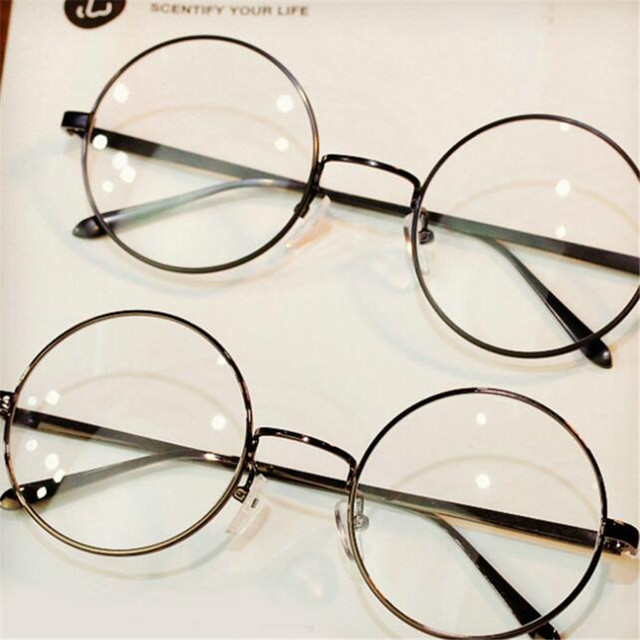 d86762fcb21d2 Duże Okrągłe Metalowe Ramki Okularów Kobiety Mężczyźni Retro Okulary Mody  Ultra Light Marka Projektant Okulary Koło