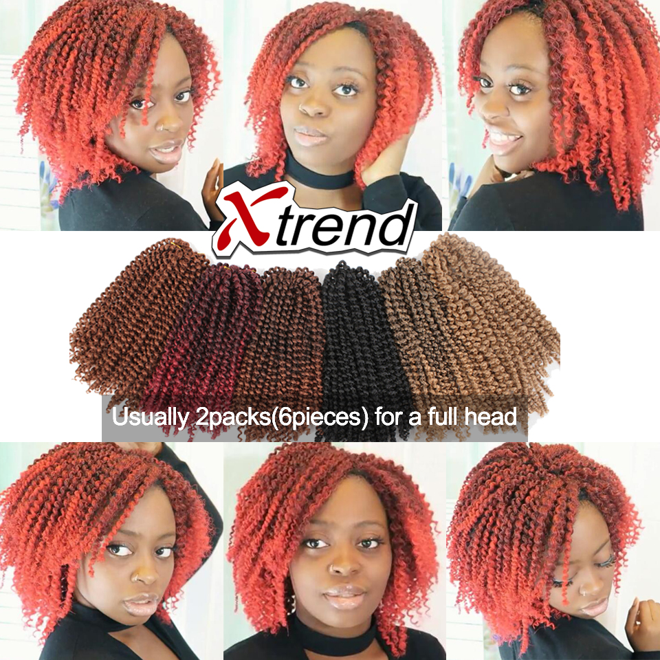 Synthetic Afro Kinky Curly Crochet Braid Hair Extension