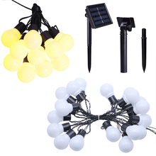 5M 20LED Waterproof Solar G50 Bulbs String Light Outdoor Christmas Fairy Garland For Garden Party Wedding Decoration