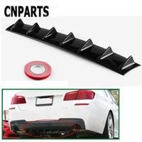 CNPARTS For Audi A4 B7 B5 A6 C6 Q5 Honda Civic 2006 2011 Fit Accord CRV Car Rear Bumper 3D Cool Shark Spoiler Stickers
