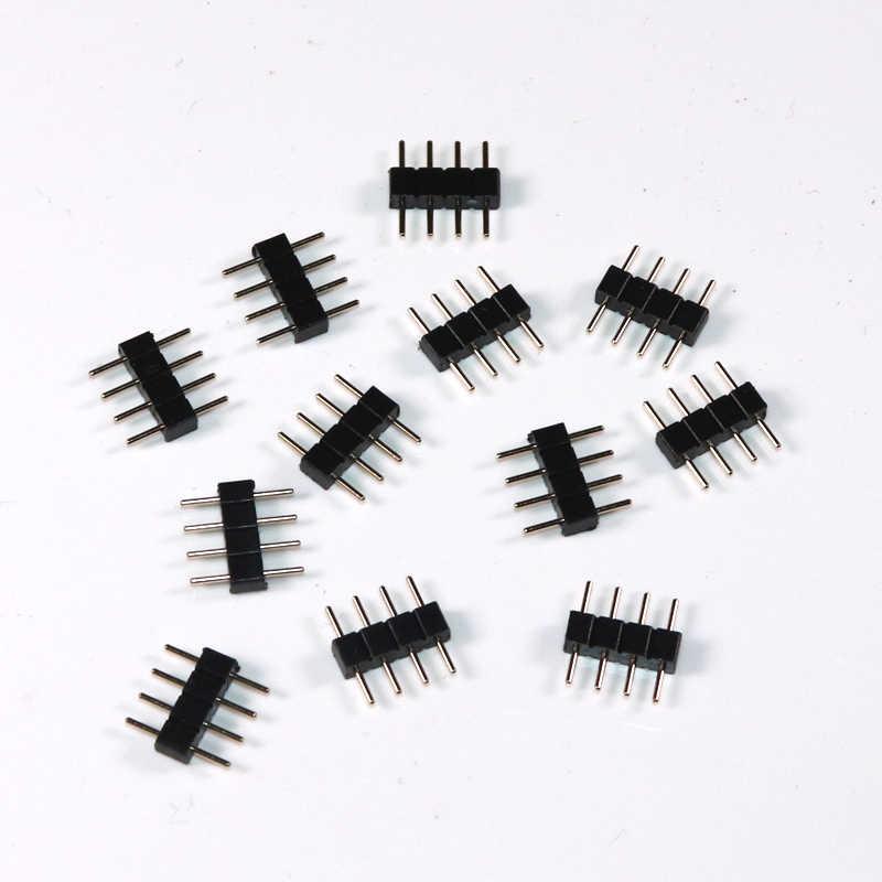 30 sztuk/partia bez lutowania 4 pin RGB/5 pin RGBW terminale igły męski typ podwójne małe części 3528 5050 LED pasek światła