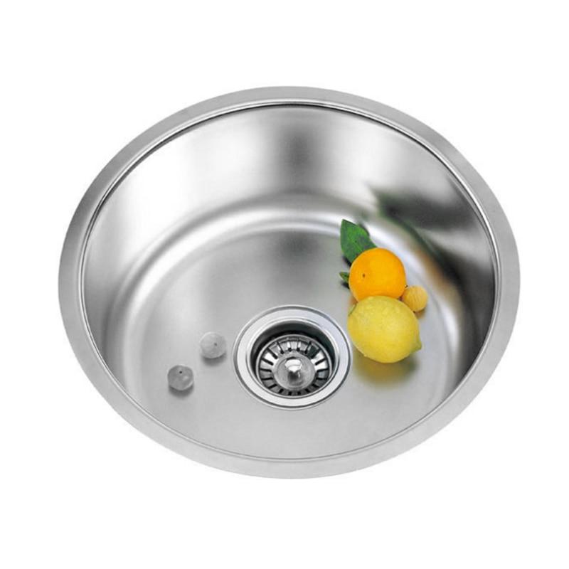 Évier de cuisine simple en acier inoxydable évier de cuisine simple fente plat bassin 41x41cmx20cm avec panier de vidange et tuyau de vidange - 6