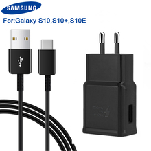 Original Fast Charging Travel Wall Charger For Samsung Galaxy S10 X G9730 S10+ Plus G9750 S10E E G9700 Type-C Cable