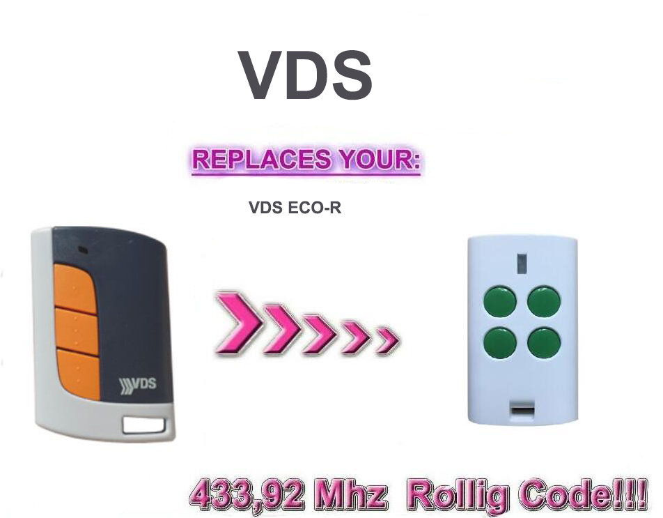 VDS ECO-R   Garage remote  rolling code copy   433.92MHz